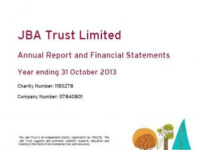 JBA Trust Annual Trustees Report