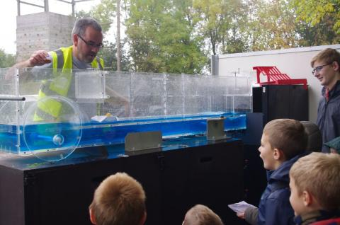 Flume at scout flood awareness