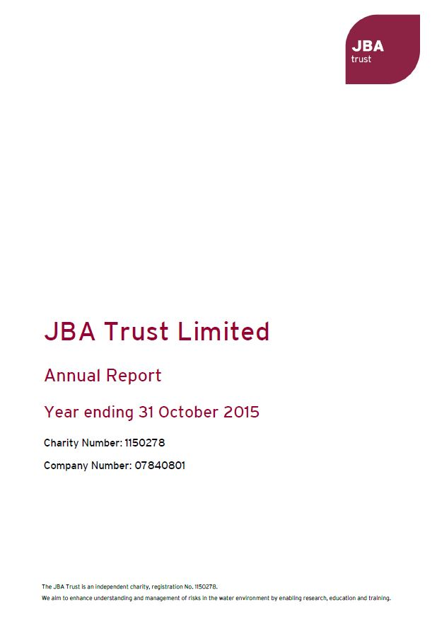 Annual Report JBA Trust 2014-15