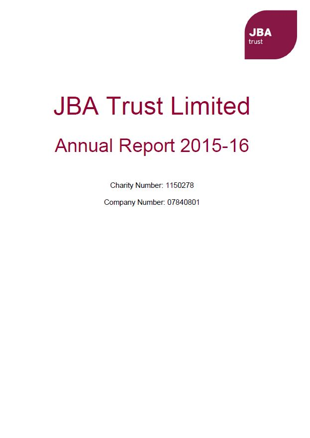 Annual Report JBA Trust 2015-16