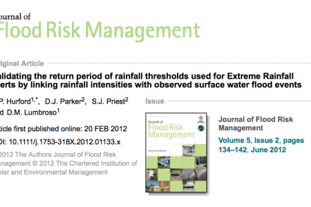The Journal of Flood Risk Management Outstanding Paper Award