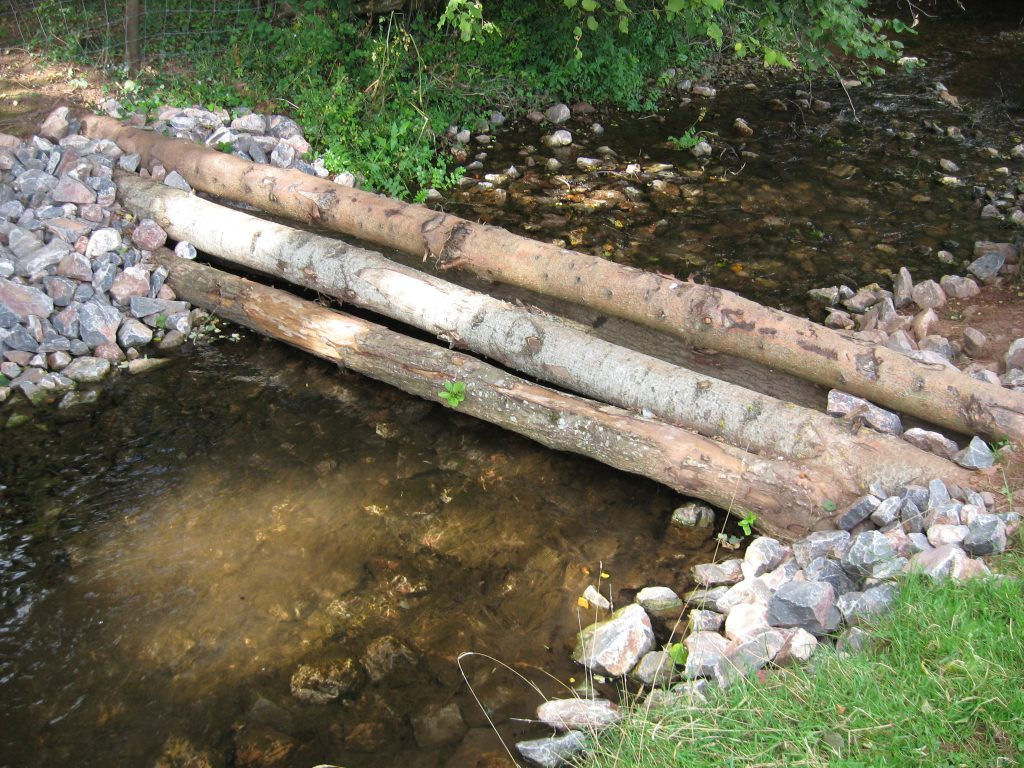 Large woody debris dam - Paddock Weir, Holnicote, Devon (Photo credit: Steve Rose, JBA Consulting)