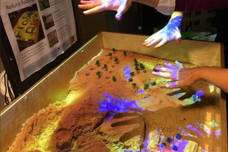 Augmented Reality Sandbox training day for Rivers Trusts