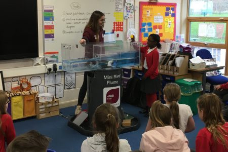 Primary pupils learn about rivers and flooding